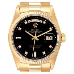 Rolex President Day-Date 36 Yellow Gold Diamond Men's Watch 18238