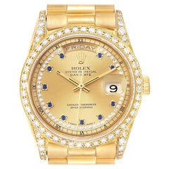 Rolex President Day-Date 36 Yellow Gold Diamond Men's Watch 18388