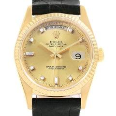 Rolex President Day-Date 36 Yellow Gold Diamonds Men's Watch 18238