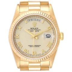Rolex President Day-Date 36 Yellow Gold Men's Watch 18238 Box Papers