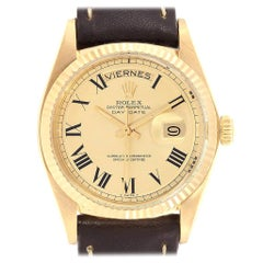 Rolex President Day-Date 36 Yellow Gold Vintage Bukley Dial Watch 1803