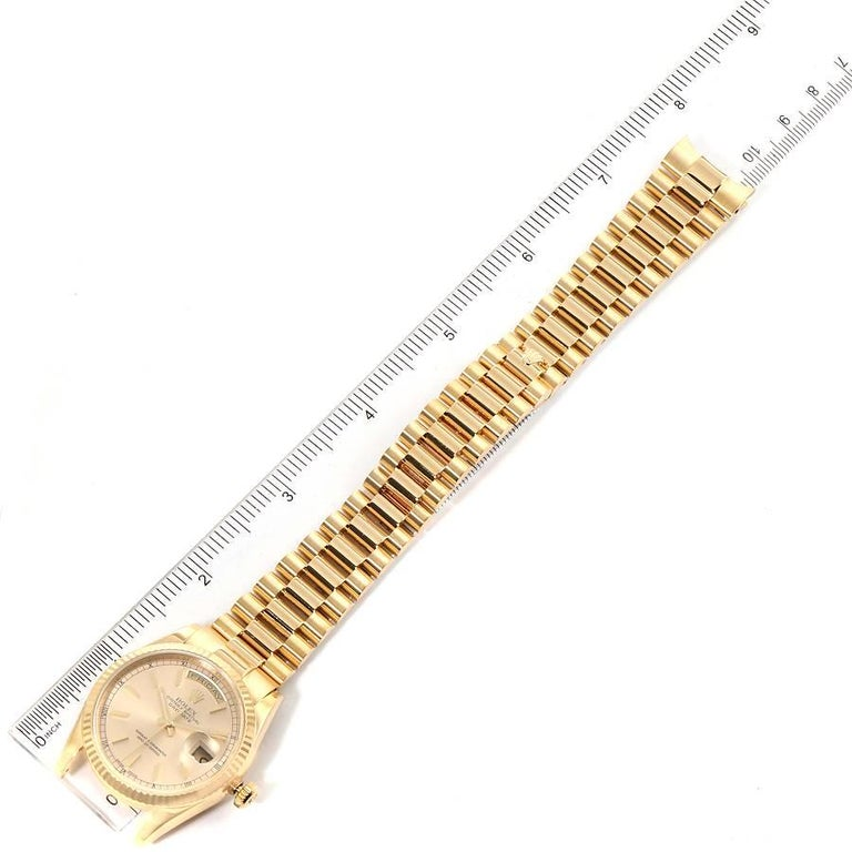 Rolex President Day Date Yellow Gold Men's Watch 118238 For Sale 7