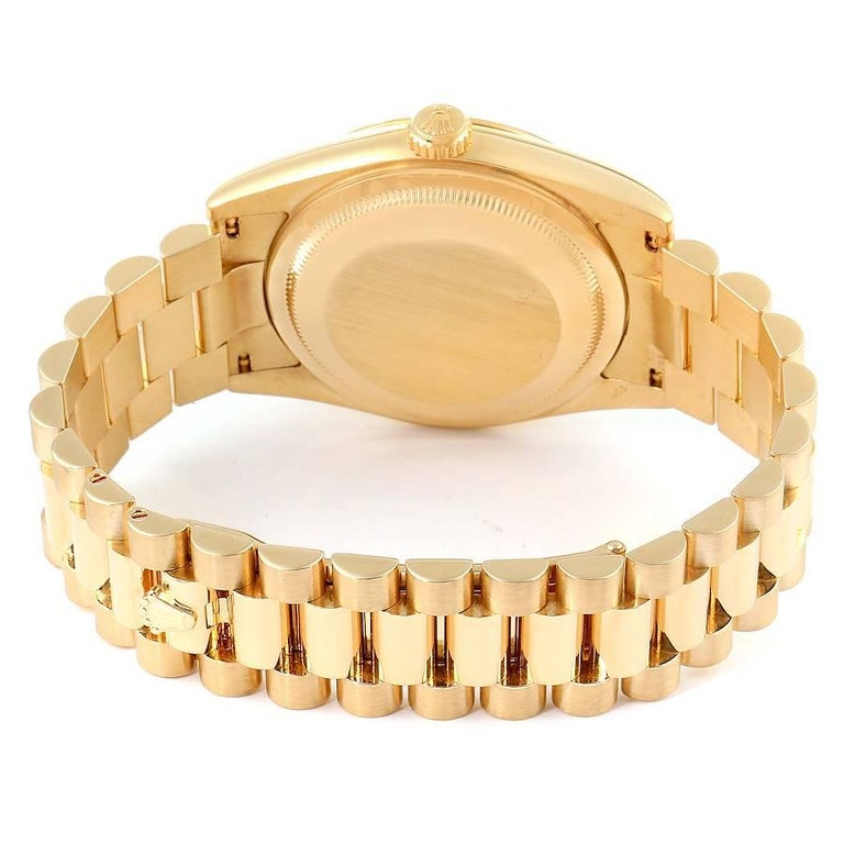 Rolex President Day Date Yellow Gold Men's Watch 118238 For Sale 6