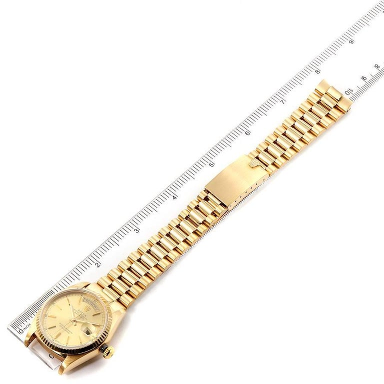 Rolex President Day-Date Yellow Gold Men's Watch 18038 Box 6