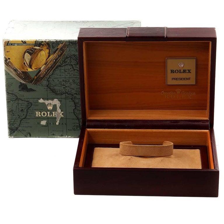 Rolex President Day-Date Yellow Gold Men's Watch 18038 Box 7