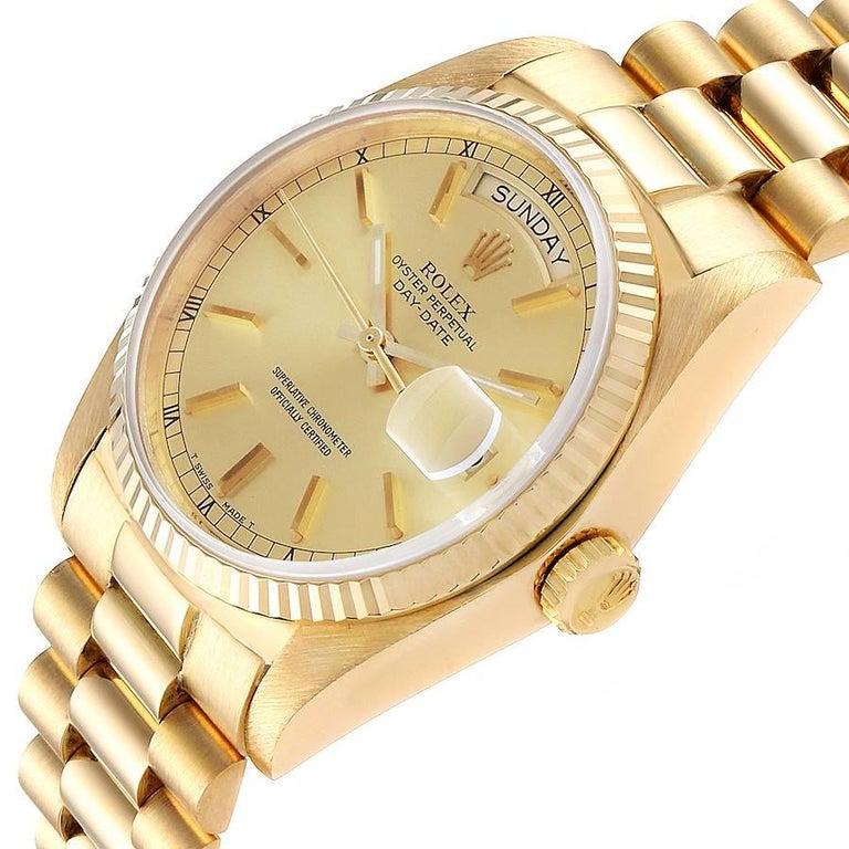 Rolex President Day-Date Yellow Gold Men's Watch 18038 Box 1