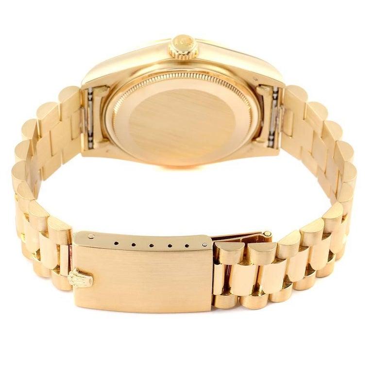 Rolex President Day-Date Yellow Gold Men's Watch 18038 Box 5