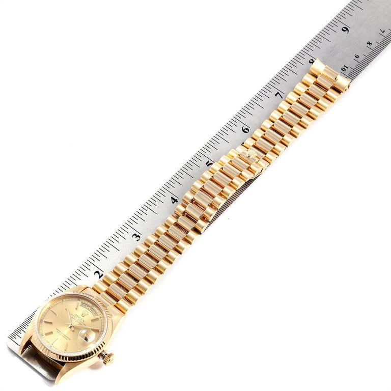 Rolex President Day-Date Yellow Gold Men's Watch 18038 For Sale 7