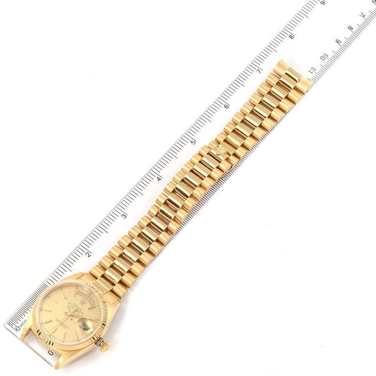 Rolex President Day-Date Yellow Gold Men's Watch 18038 For Sale 6