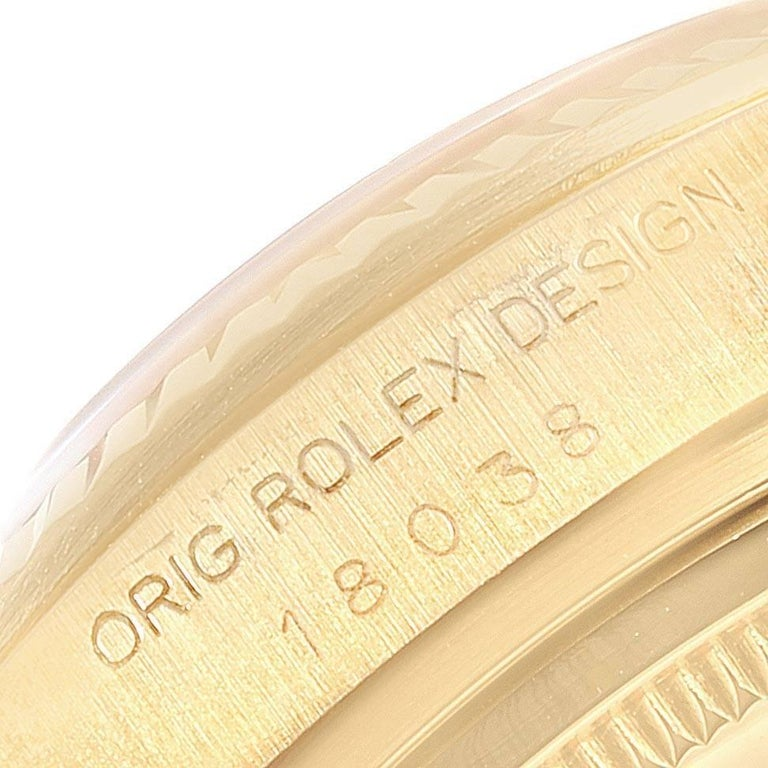 Rolex President Day-Date Yellow Gold Men's Watch 18038 For Sale 3