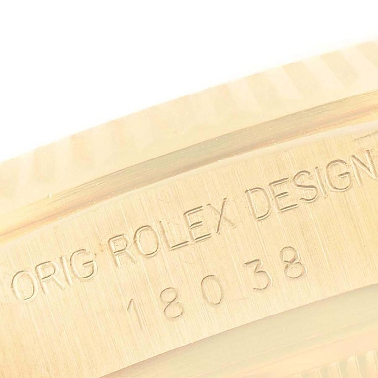 Rolex President Day-Date Yellow Gold Men's Watch 18038 For Sale 4