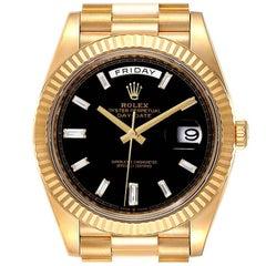 Rolex President Day-Date 40 Yellow Gold Diamond Mens Watch 228238 Unworn