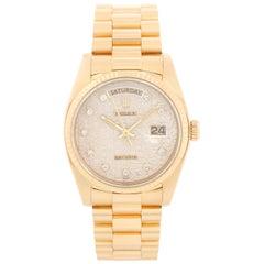Rolex President Day-Date Men's 18 Karat Gold Watch 18038