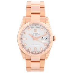 Rolex President Day-Date Men's 18 Karat Rose Gold Watch 118205 Rose Dial
