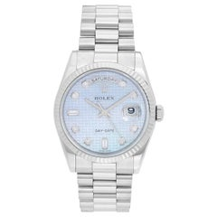 Rolex President Day-Date Men's 18 Karat White Gold Watch 118239