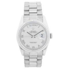 Rolex President Day-Date Men's 18 Karat White Gold Watch 118239
