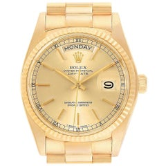 Rolex President Day-Date Mens 18 Karat Yellow Gold Men's Watch 18038