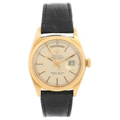 Rolex President Day-Date Men's 18 Karat Yellow Gold Watch 1803