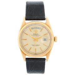 Rolex President Day-Date Men's 18 Karat Yellow Gold Watch 1803