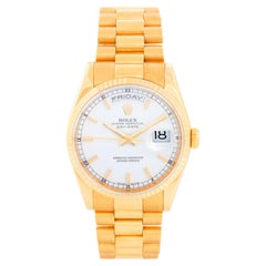 Rolex President Day-Date Men's 18k Gold Watch 118238