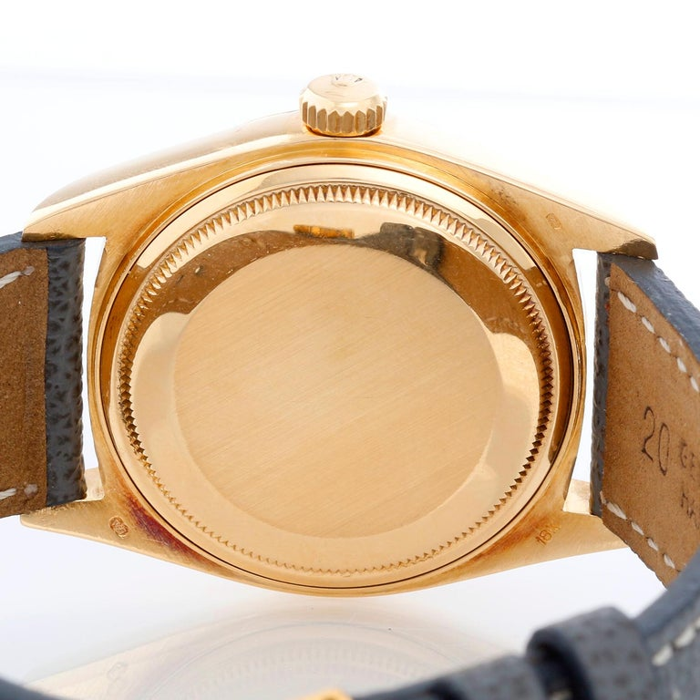 Rolex President Day-Date Men's 18k Gold Watch 18038 For Sale 1