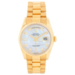 Rolex President Day-Date Men's Mother of Pearl Watch 118238