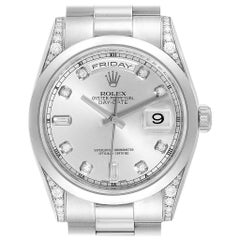 Rolex President Day-Date Platinum Diamond Men's Watch 118206