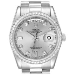 Rolex President Day-Date Platinum Diamond Men's Watch 118346