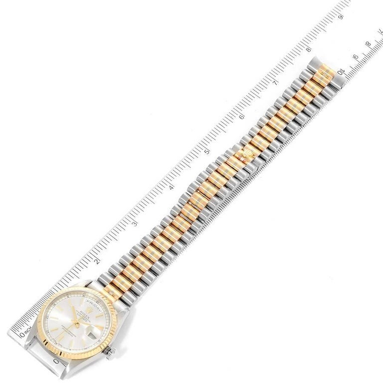 Rolex President Day-Date Tridor White Yellow Rose Gold Mens Watch 18239 For Sale 6