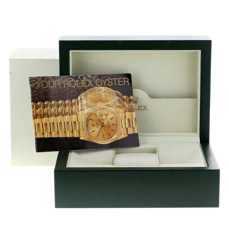 Rolex President Day-Date Tridor White Yellow Rose Gold Mens Watch 18239 For Sale 7