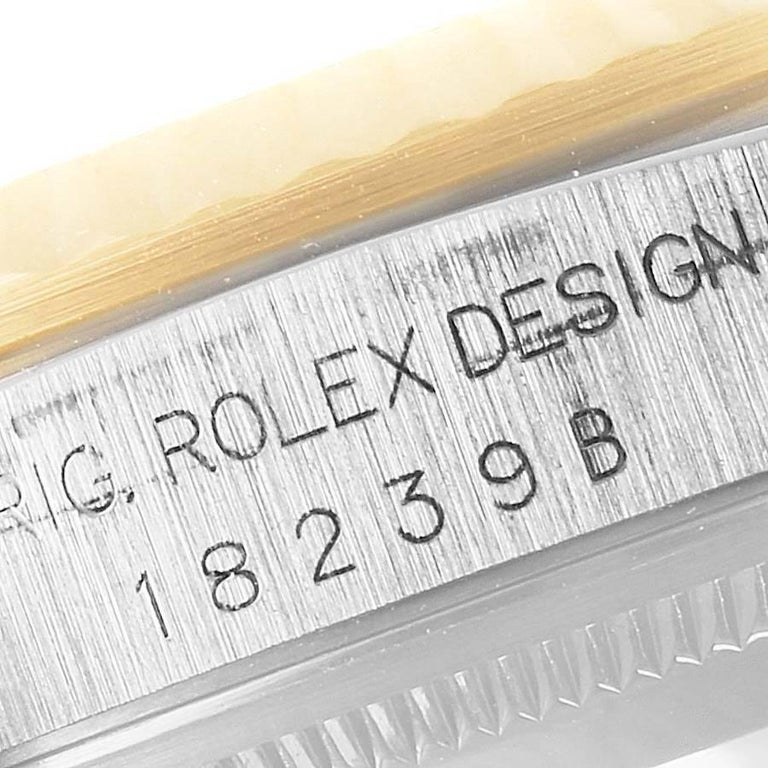 Rolex President Day-Date Tridor White Yellow Rose Gold Mens Watch 18239 For Sale 2