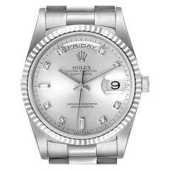 Rolex President Day-Date White Gold Diamond Mens Watch 18239