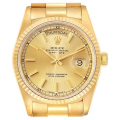 Rolex President Day-Date Yellow Gold Champagne Dial Men's Watch 18238