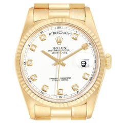 Rolex President Day-Date Yellow Gold Diamond Dial Men's Watch 18238