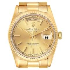 Rolex President Day Date Yellow Gold Diamond Men's Watch 18238