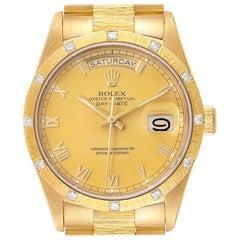 Rolex President Day-Date Yellow Gold Diamond Men's Watch 18308