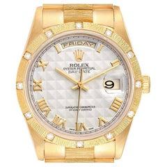 Rolex President Day-Date Yellow Gold Diamond Mens Watch 18308