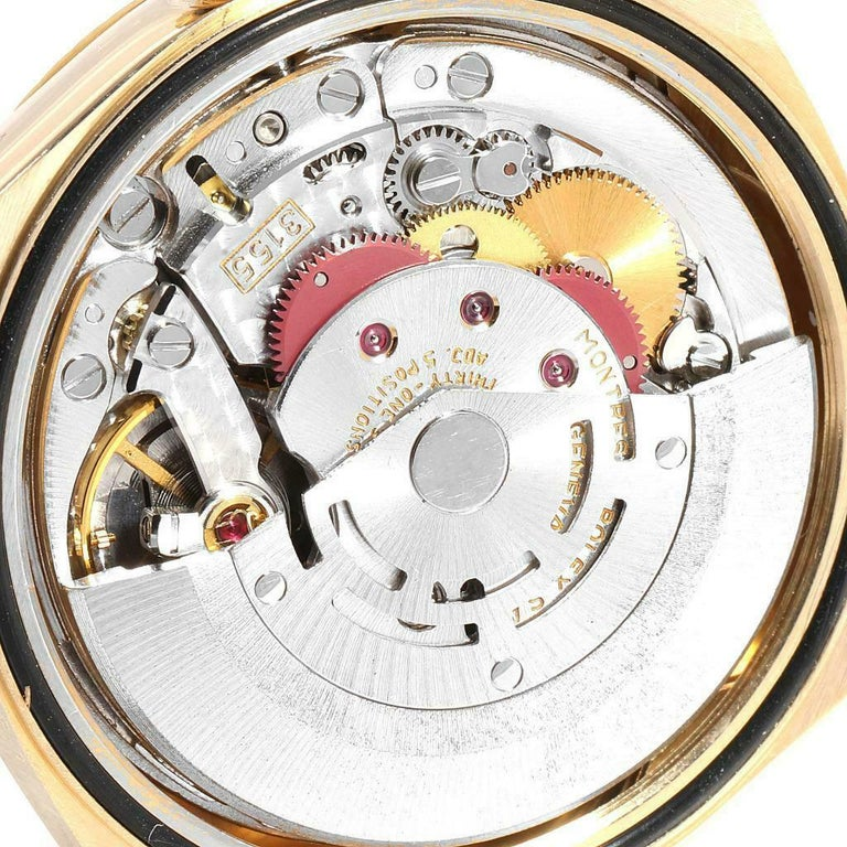 Rolex President Day-Date Yellow Gold Honeycomb Diamond Dial Watch 18238 For Sale 2