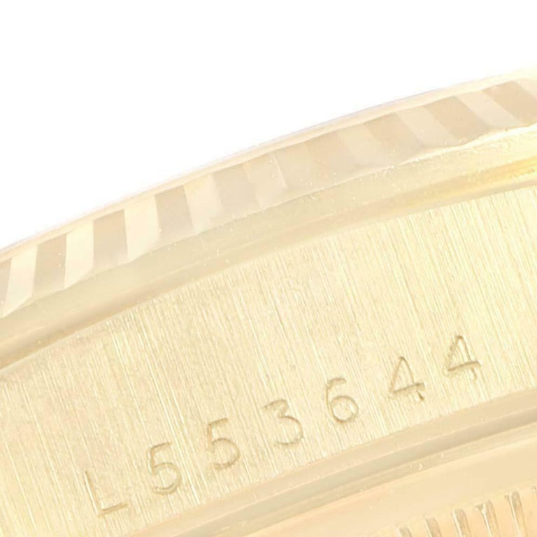 Rolex President Day-Date Yellow Gold Honeycomb Diamond Dial Watch 18238 For Sale 3