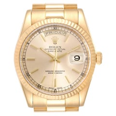 Rolex President Day Date Yellow Gold Men's Watch 118238 Box Papers