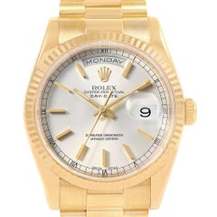 Rolex President Day-Date Yellow Gold Men's Watch 118238 Box Papers