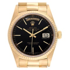 Rolex President Day-Date Yellow Gold Men's Watch 18038 Box Papers