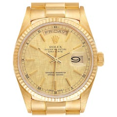 Rolex President Day-Date Yellow Gold Men's Watch 18038