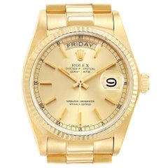 Rolex President Day-Date Yellow Gold Mens Watch 18038