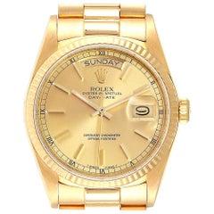 Rolex President Day-Date Yellow Gold Men's Watch 18038