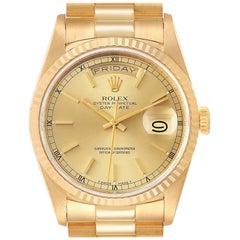 Rolex President Day Date Yellow Gold Men's Watch 18238 Box