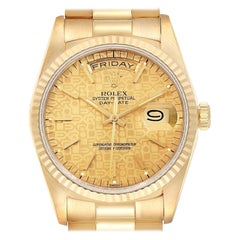 Rolex President Day-Date Yellow Gold Men's Watch 18238 Box Papers