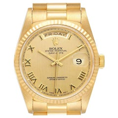 Rolex President Day-Date Yellow Gold Roman Dial Men's Watch 18238