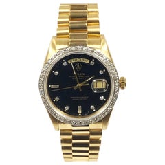Rolex President Day Date Yellow Gold with Diamond Bezel and Dial