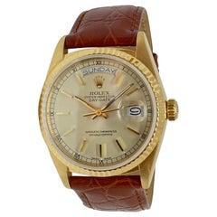 Rolex President Daydate 18 Karat Yellow Gold #18038 1987